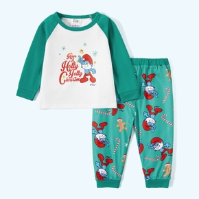 Smurfs 2-piece Baby Boy Holly Chritmas Tee and Candy Pants Set