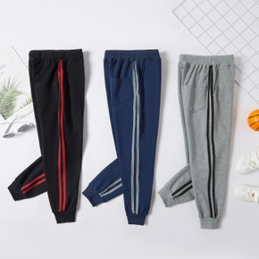 Solid Stripe Athleisure Pants for Toddlers / Kids