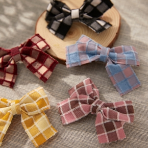 2-pack Grid Bowknot Hairbands for Girls