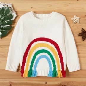 Toddler Girl Sweet Rainbow Sweater