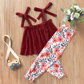 2-piece Baby / Toddler Girl Stylish Camisole and Print Pants Set