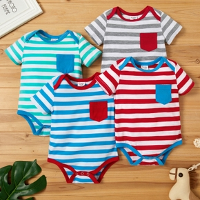 Baby Unisex Casual Striped Jumpsuit