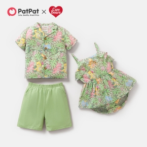 Care Bears Summer Palm Shirts and Flounced Bodysuit For Siblings