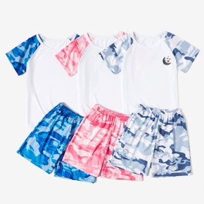 Camouflage Tee and Shorts Athleisure Set for Kids