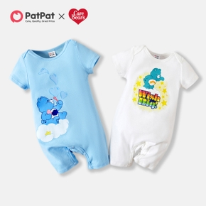 Care Bears Baby Boy/Girl Heart and Stars 100% Cotton Baby One Piece