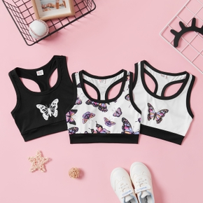 Butterfly Print Active Tank for Girls