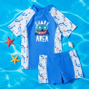 Shark Print Activewear Swimsuits for Toddlers / Kids