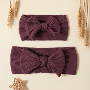 Solid Color Bowknot Headbands for Mommy and Me