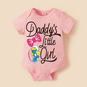 Smurfs Baby Girl Bowknot Daddy's Girl 100% Cotton Bodysuit