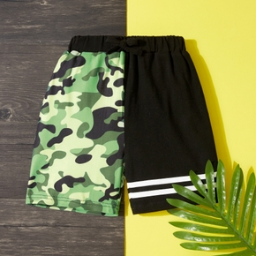Toddler Boy Casual Camouflage Splice Shorts