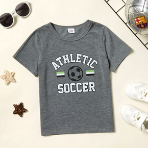 'Athletic Soccer' Print Short-sleeve Top for Toddlers / Kids