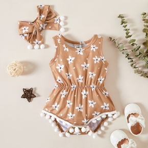 Baby casual Floral Rompers & Bodysuits