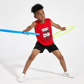'You can do it' Letter Print Tank and Shorts Athleisure Set for Toddlers / Kids
