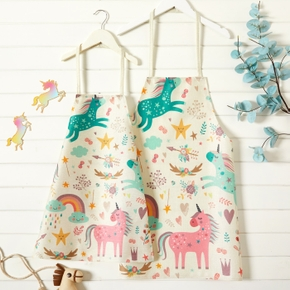Animal Unicorn Print Aprons for Mommy and Me