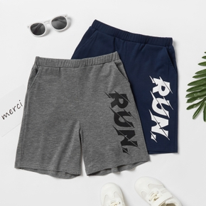 'Run' Letter Print Activewear Shorts for Toddlers / Kids