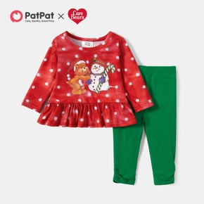 Care Bears 2-piece Baby Girl Polka Dots Top and Leggings Set
