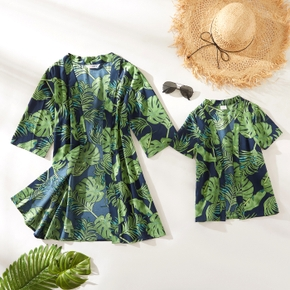 Leaf Print Cover Up for Mommy and Me