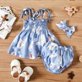 3pcs Baby Girl Sling Floral Summer Fashionable Clothes