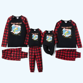 Smurfs Peace and Love Family Matching Christmas Pajamas Set(Flame Resistant)