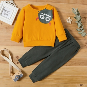 2-piece Baby / Toddler Cartoon Pullover and Pants Set