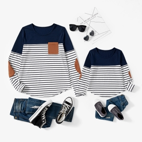 Stripe Print Sweatshirts for Mom and Me