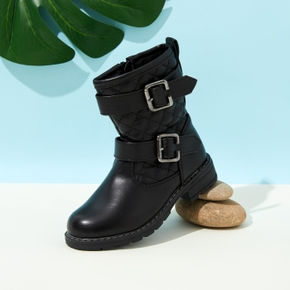 Kid Solid Casual Mid-calf Boots