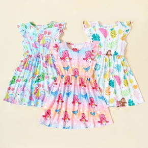Care Bears Toddler Girl Classic and Magic Fruits Patterns Dress