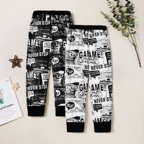 trendy Jogginghose Comic-Allover-Print