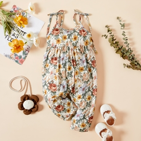 Colorful Floral Print Baby Sling Jumpsuit