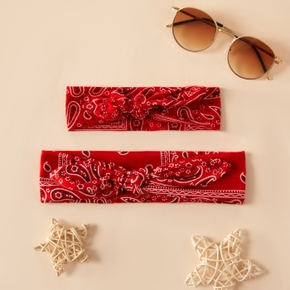 Floral Print Bowknot Headbands Sets for Mommy and Me