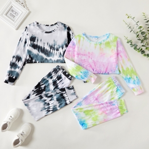 Kid Boy/Kid Girl Tie Dye Long Sleeve Top & Pants Set
