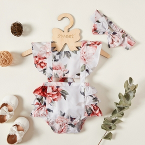 Baby Girl Sweet Floral Rompers & Bodysuits