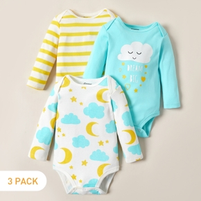 3-pack Baby Cloud Bodysuits Set