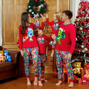 Family Look Red Party Pajama Sets Animal full print Matching Pajamas