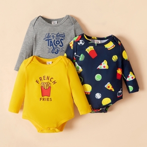 1pc Baby Boy Long-sleeve casual Rompers & Bodysuits