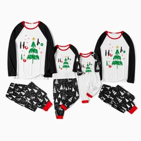 Family Matching Christmas Tree Print Pajamas Sets (Flame Resistant)