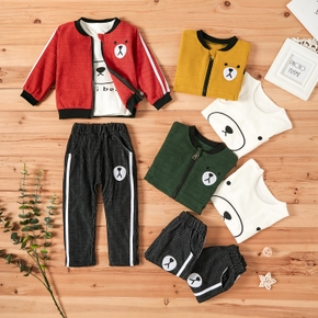3pcs Baby Boy casual Animal & Polar bear Baby's Sets Long-sleeve Fashion Cute Infant Clothes Outfit Clothing