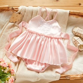 Baby Bow Strappy Dress Romper