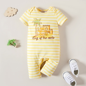 Care Bears Baby Boy Summer Castle Stripe Cotton Romper