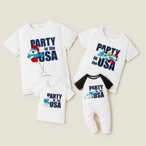 Smurfs Party Family Matching Cotton Tees and Romper