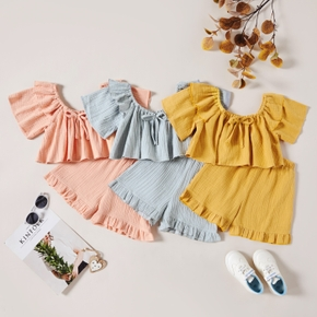 1pc Kid Girl Sweet Solid Shorts suit casual Suits