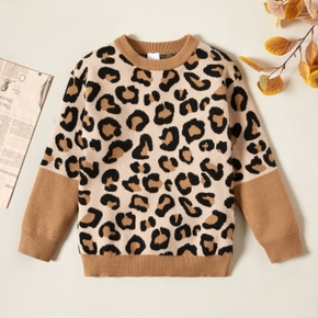 Trendy Leopard Knitted Sweater