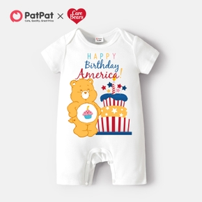 Care Bears Baby Boy/Girl My First 4th Of July 100% Cotton Romper