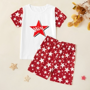Kids Unisex Stars Tee and Allover Shorts Set