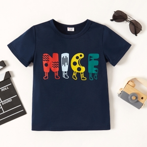 Trendy Toddler Boy Letter Print Tee