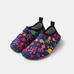Marine Print Cartoon Athleisure Water Beach Shoes for Toddlers / Kids