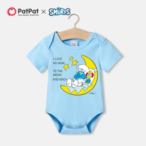 Smurfs Baby Boy Stars and Moon Mother's Day Cotton Bodysuit