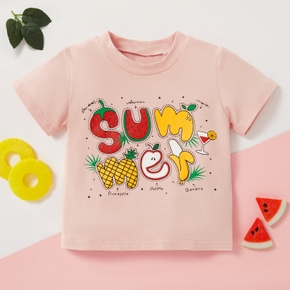 1pc Baby Girl Short-sleeve Cotton casual Fruit Tee