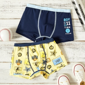 2-Pack Toddler Boy Letter Print Knickers