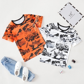 Stylish Kid Boy Hand painted Vehicle T-shirt